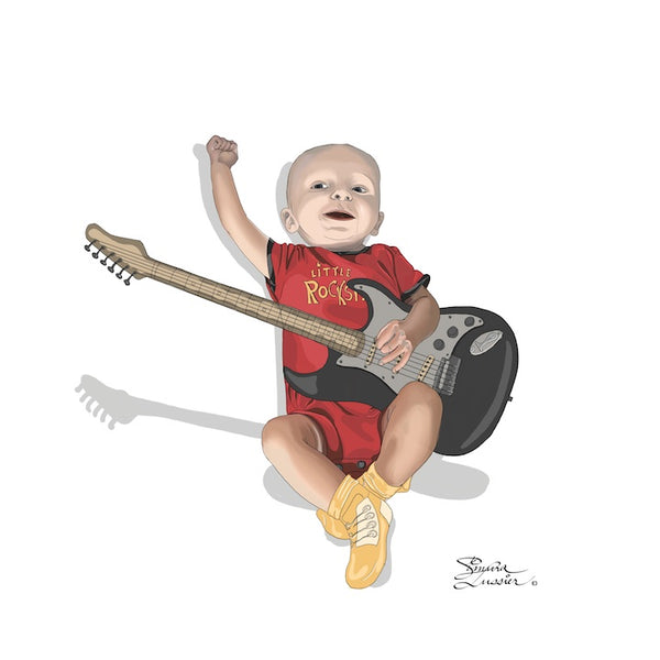 My Little Rock Star - Digital Illustration by Kasia Simura Lussier