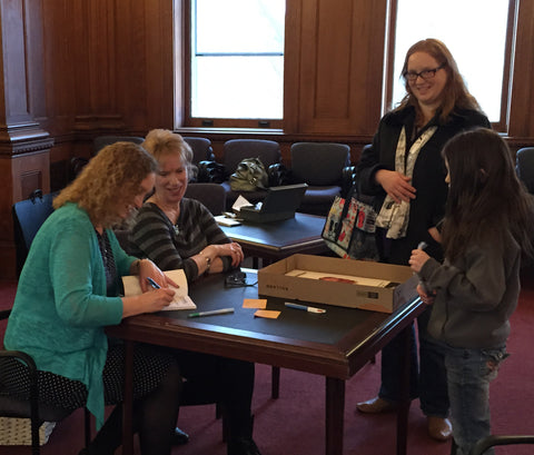 Book signing at Blackstone Memorial Library
