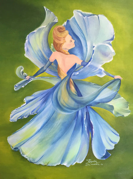 Dancing Iris - Oil Painting by Kasia Simura Lussier