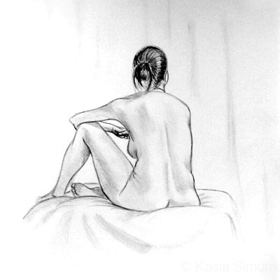 Study of a Woman - pencil drawing by Kasia Simura