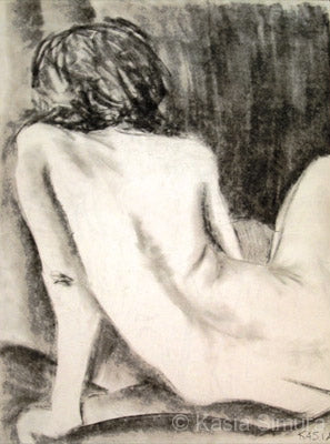 Charcoal Study of a Nude by Kasia Simura