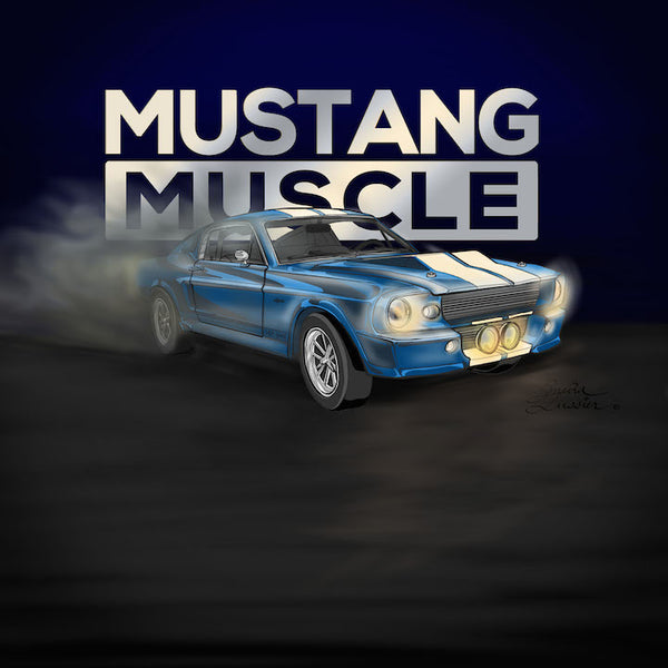 Mustang Muscle - digital illustration by Kasia Simura Lussier