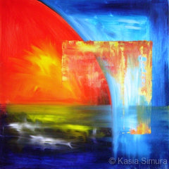 Sunset Over Water - Oil Painting by Kasia Simura