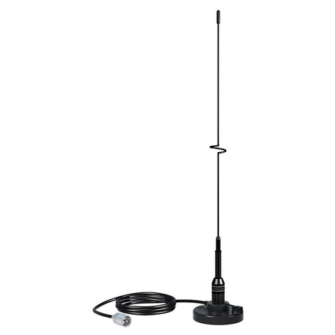 "Shakespeare VHF 19"" 5218 Black SS Whip Antenna - Magnetic Mount"