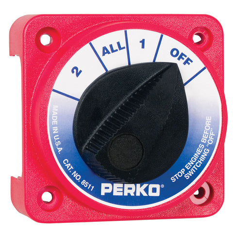 Perko Compact Medium Duty Battery Selector Switch w/o Key Lock
