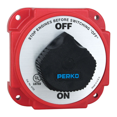 Perko 9703DP Heavy Duty Battery Disconnect Switch w/ Alternator Field Disconnect