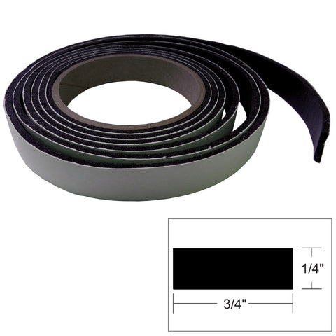 "TACO Hatch Tape - 8'L x 1/4""H x ""W - Black"