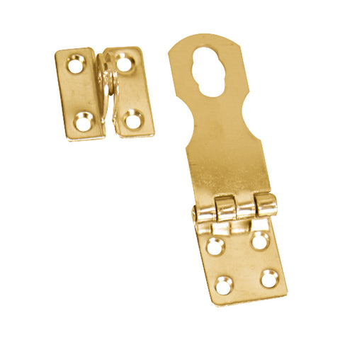 "Whitecap Swivel Safety Hasp - Polished Brass - 1"" x 3"""