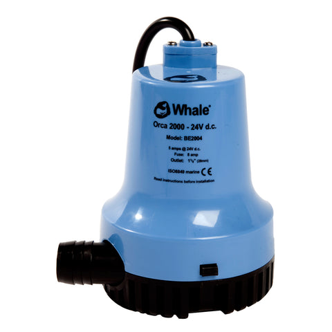 Whale Orca 2000 GPH Submersible Bilge Pump 12V