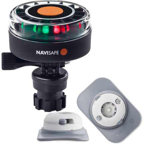 Navisafe Navilight 2NM Tricolor w/Navimount Base  RIB Mount - White