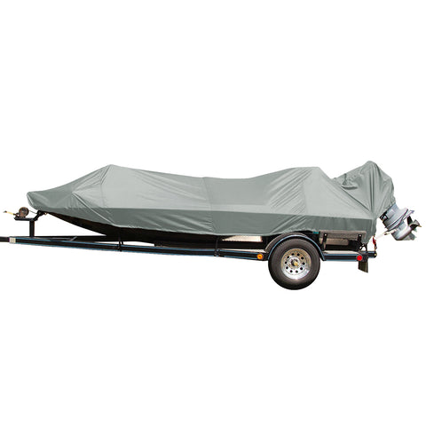 Carver Performance Poly-Guard Styled-to-Fit Boat Cover f/17.5 Jon Style Bass Boats - Shadow Grass