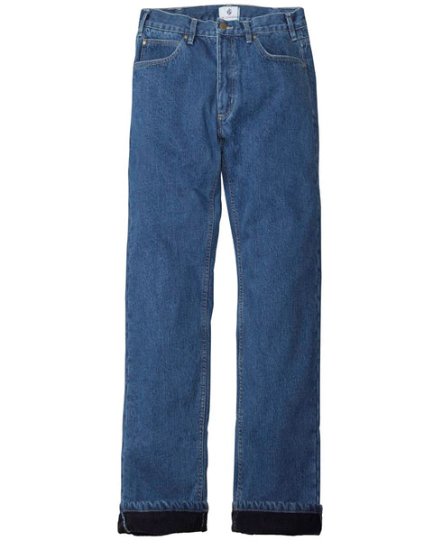 Mens Relaxed Fit Fleece lined Jeans
