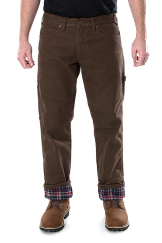 Men's Flannel Lined Canvas work Pants