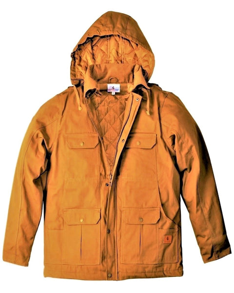 Men's Quilted Lined Canvas Duck Work Jacket
