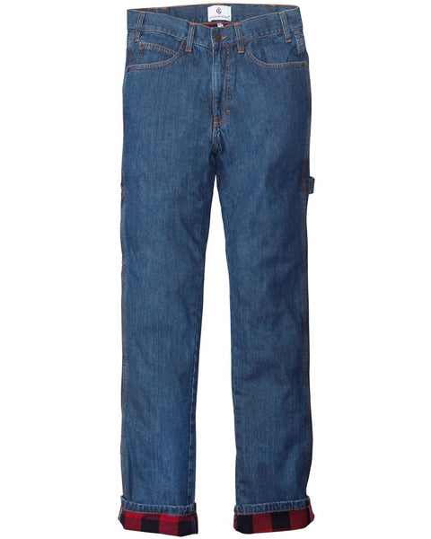 Men's Carpenter Style Flannel Lined Jeans