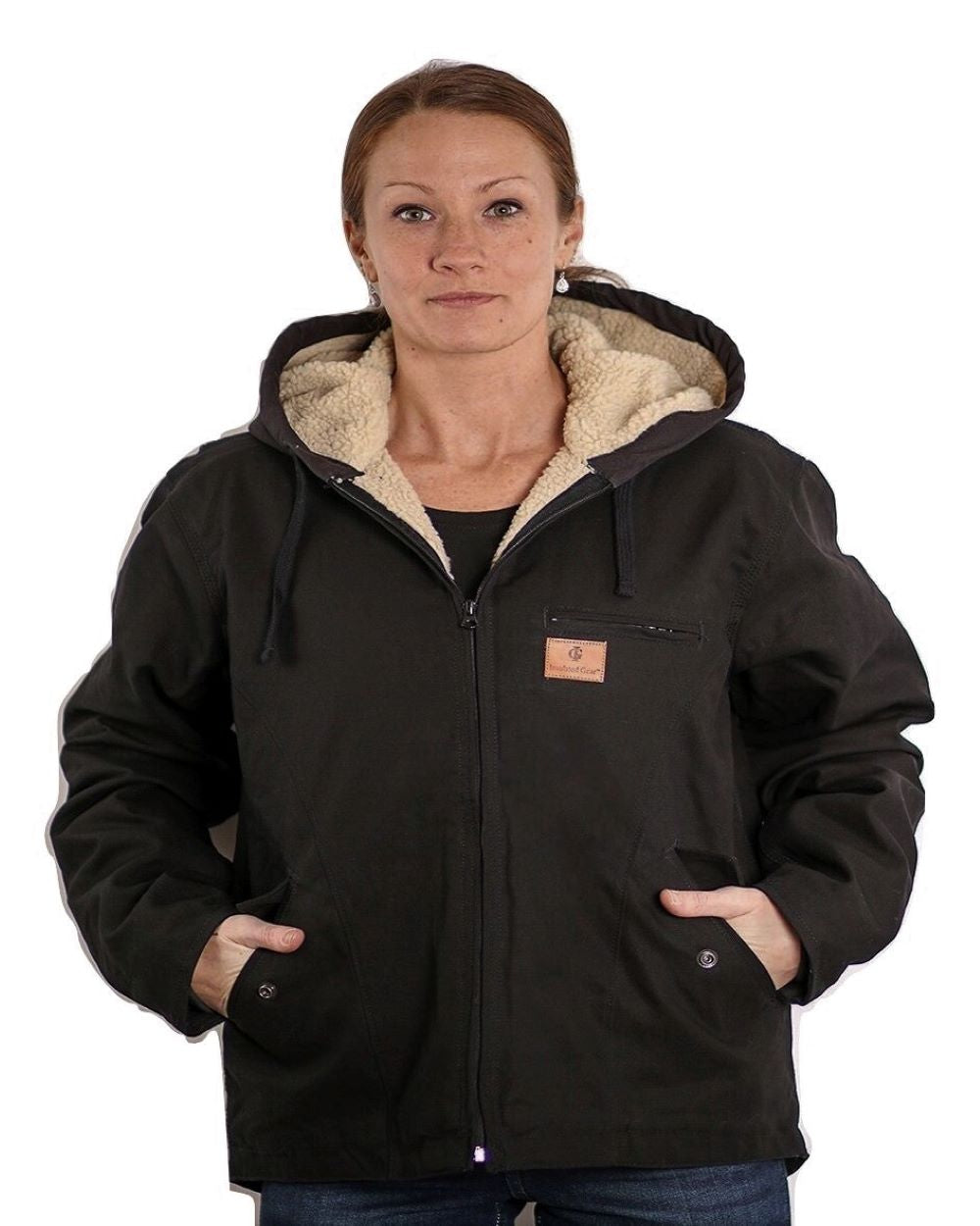 Women's Sherpa Lined Canvas Hooded Jackets