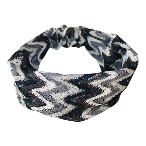 Hairband white/black