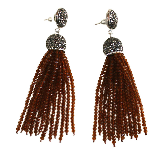 Earrings brown