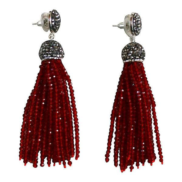 Earrings red