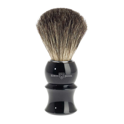 Black Pure Badger Traditional English Shaving Brush by Edwin Jagger