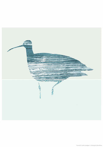 'Curlew' Unframed Art Print by Helen Minns, 30 x 42cm