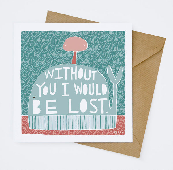 'Lost' Greeting Card by Freya Ete