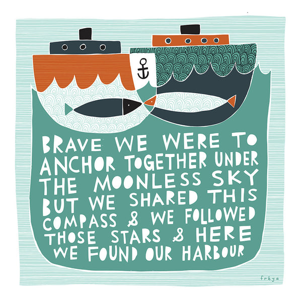 'Our Harbour' Greeting Card by Freya Ete