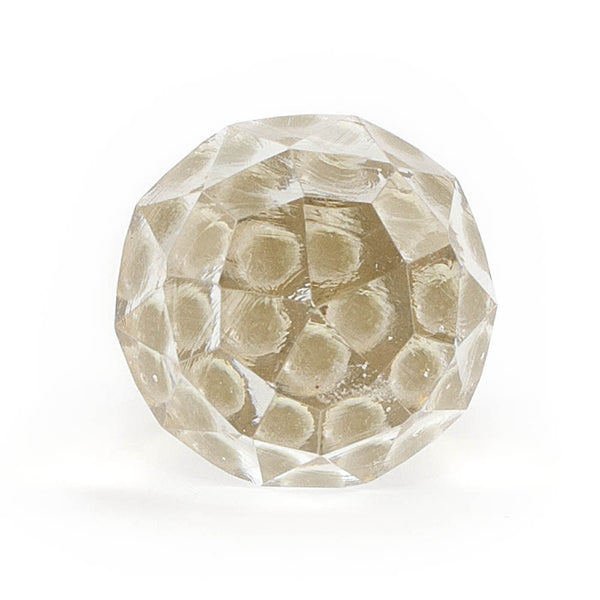 Compound cut clear glass drawer knob