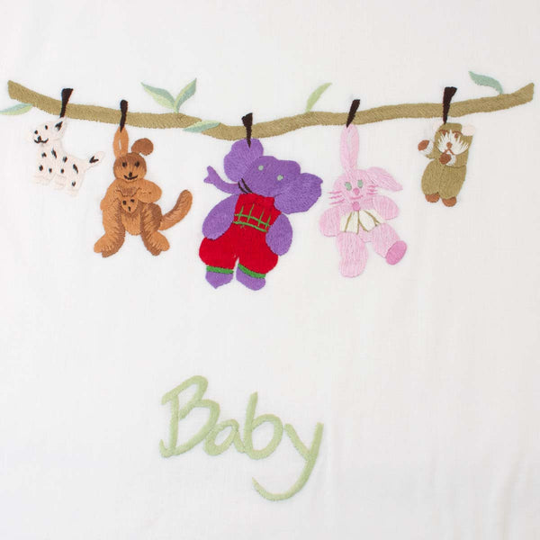 Baby Embroidered Laundry Tidy Bag by Sibona