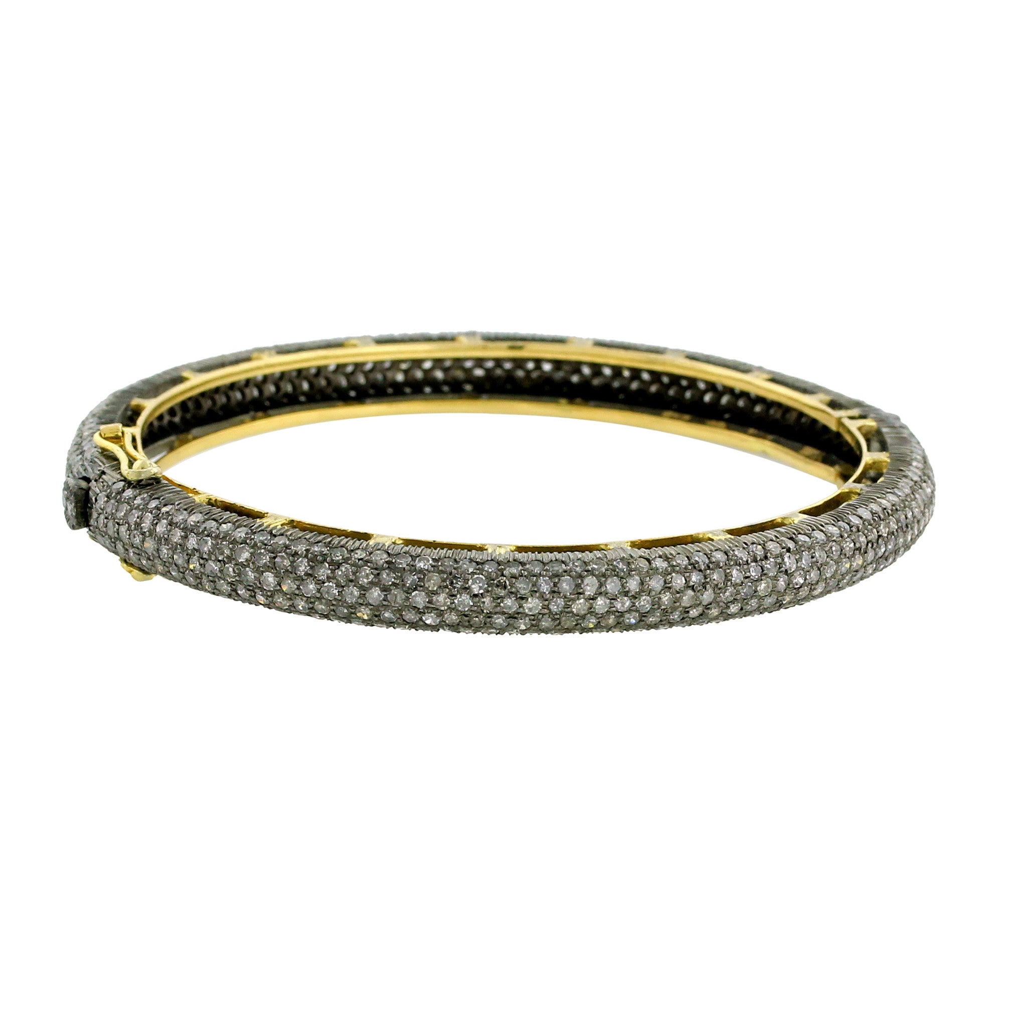 collection bangle london bracelet diamond bar bangles pave bead gold