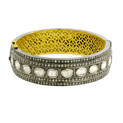 Pave and Polki Stack Bangle