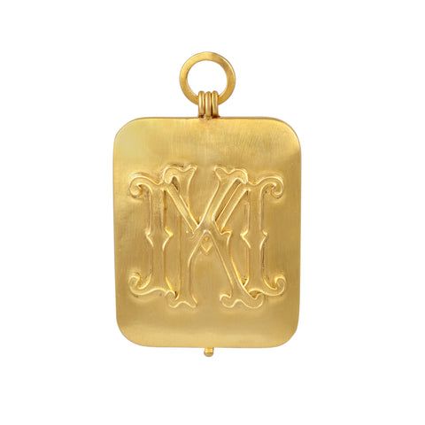 Custom Monogram Gold Locket