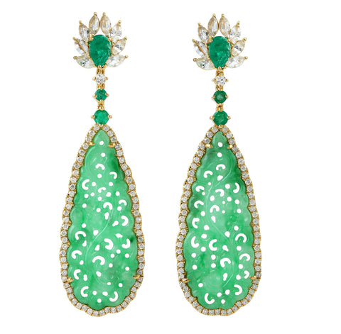 Crowned Jade Earrings