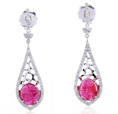 Regal Ruby Earrings