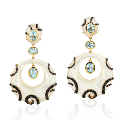 Aqua Fine Earrings