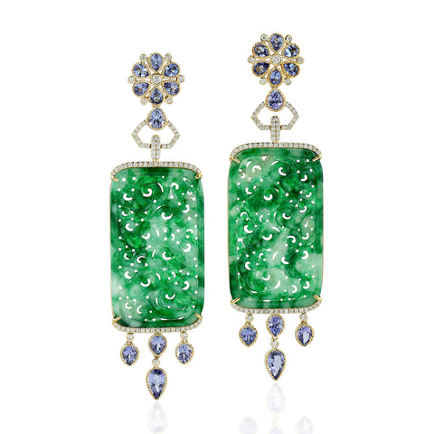 Majestic Jade Earrings