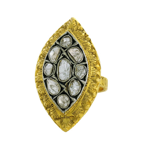 14K and Polki Diamond Ring
