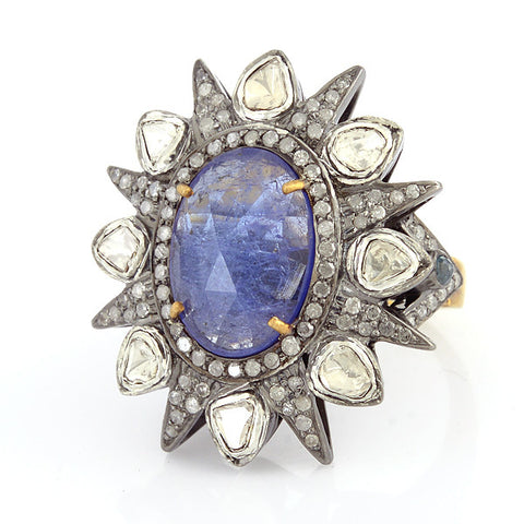 Tanzanite Starburst Ring