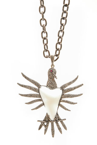 Rising Phoenix Diamond Pendant