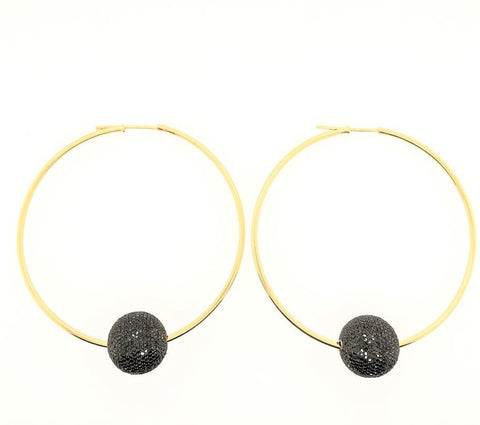 Black Diamond Ball Hoops