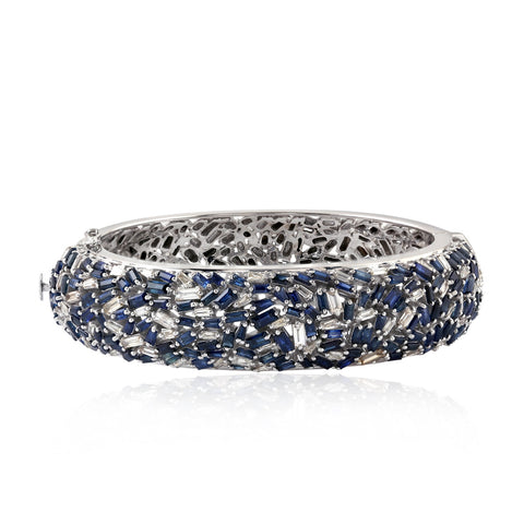 Sapphire and Diamond Confetti Bangle