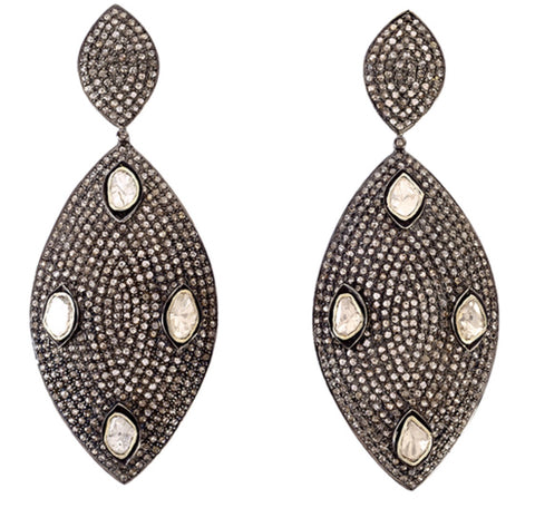 Diamond Shield Earrings