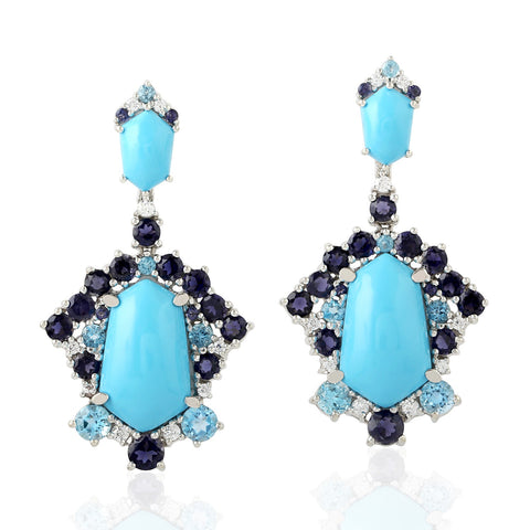 Apre Sapphire & Turquoise Earring