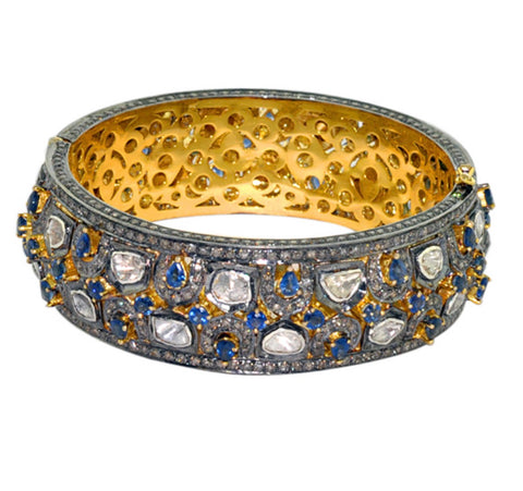 Sapphire and Diamond Regal Bangle