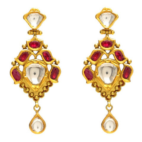 Aman Raja Ruby Earrings