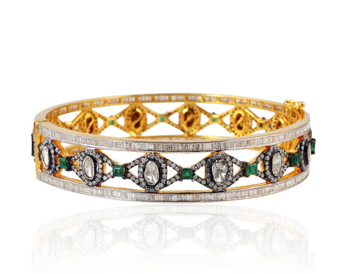 Elegant Emerald Bangle