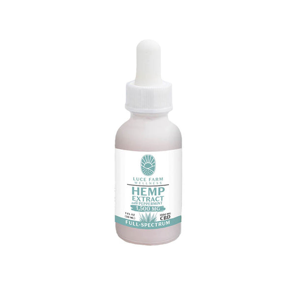 Full-Spectrum Hemp Extract with Peppermint • 1,500 mg CBD | Luce Farm