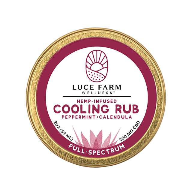 Hemp-Infused Cooling Rub with Peppermint + Calendula | Luce Farm