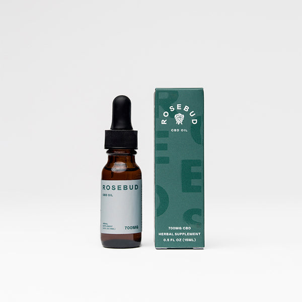 Double Strength CBD Oil 700mg | Rosebud