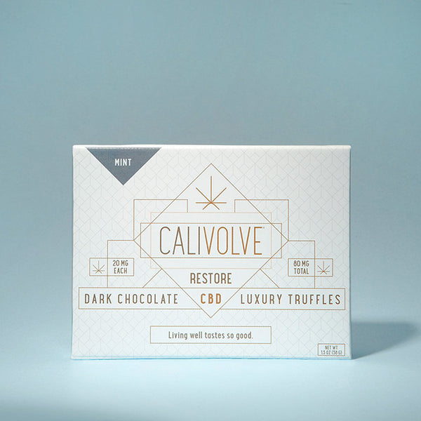 Mint Dark Chocolate CBD Truffles | Calivolve